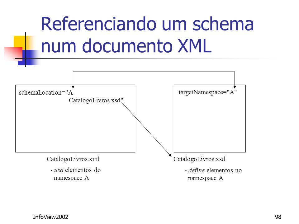 Referenciando um schema num documento XML
