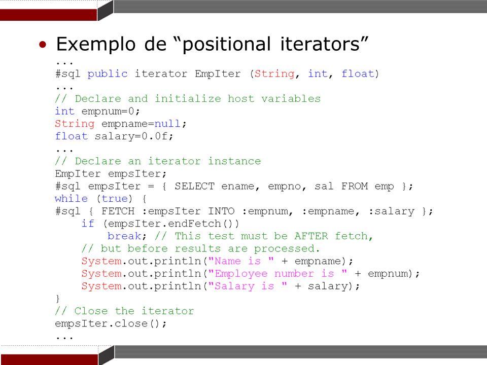 Exemplo de positional iterators