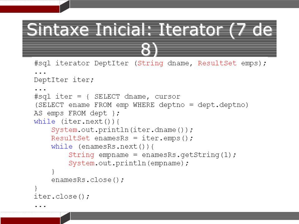 Sintaxe Inicial: Iterator (7 de 8)