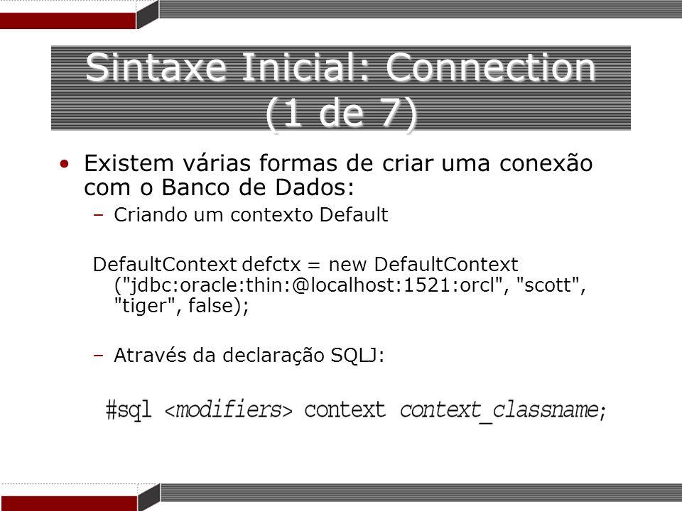 Sintaxe Inicial: Connection (1 de 7)