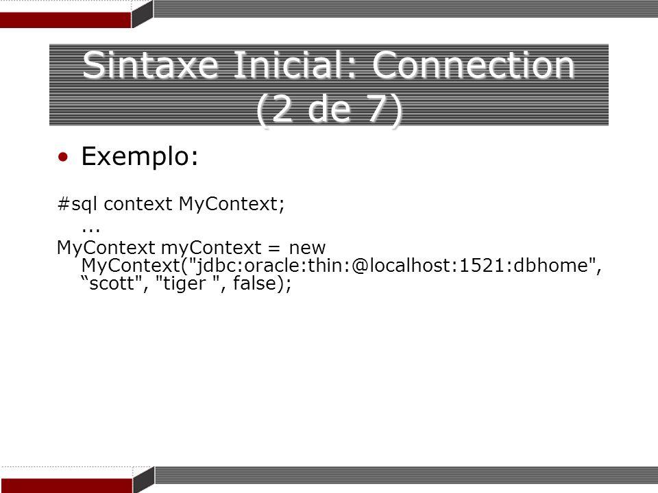 Sintaxe Inicial: Connection (2 de 7)