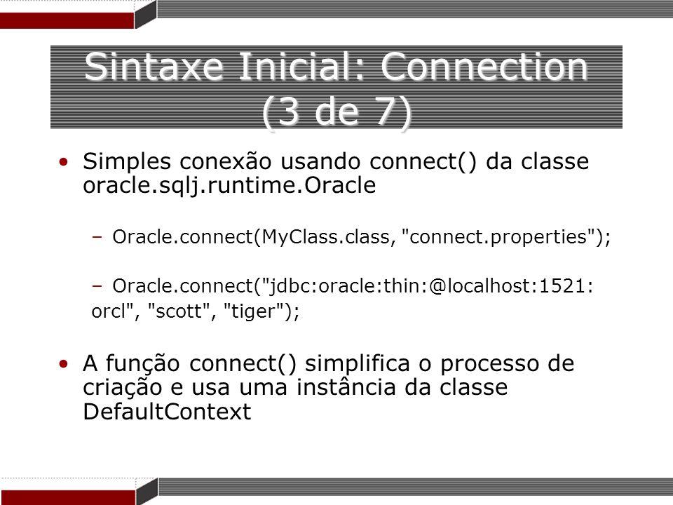 Sintaxe Inicial: Connection (3 de 7)