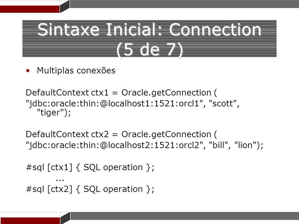 Sintaxe Inicial: Connection (5 de 7)
