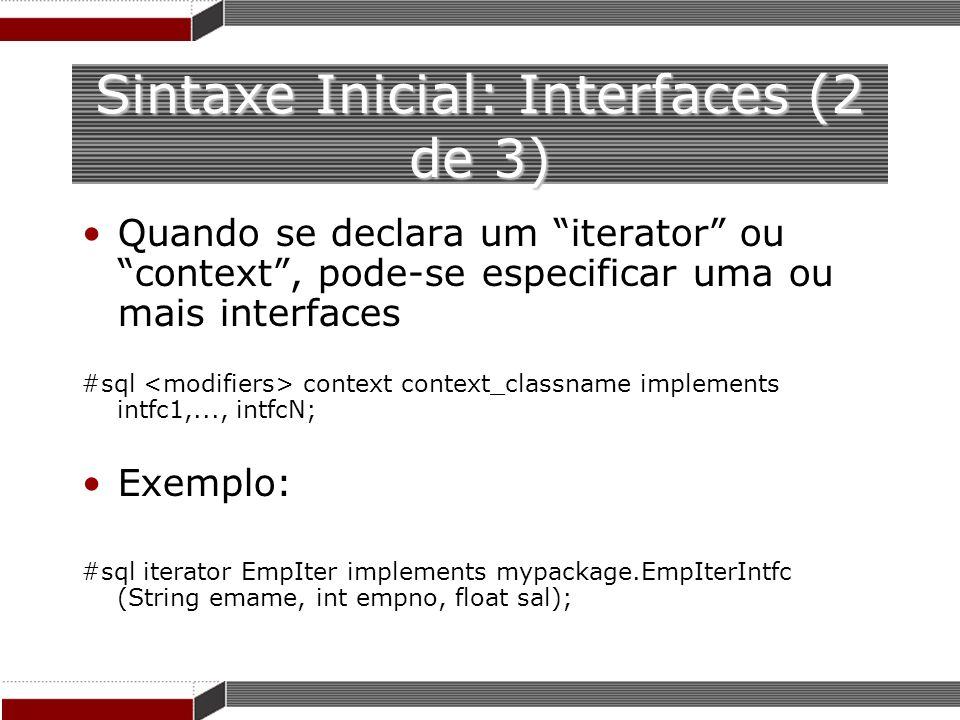 Sintaxe Inicial: Interfaces (2 de 3)