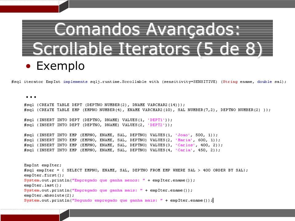 Comandos Avançados: Scrollable Iterators (5 de 8)