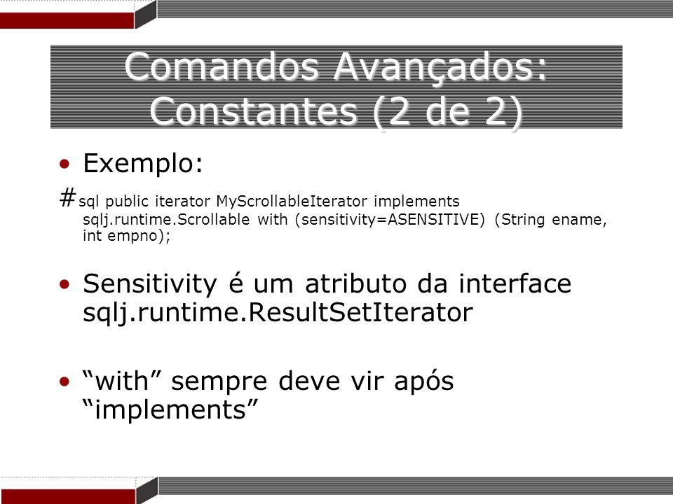 Comandos Avançados: Constantes (2 de 2)
