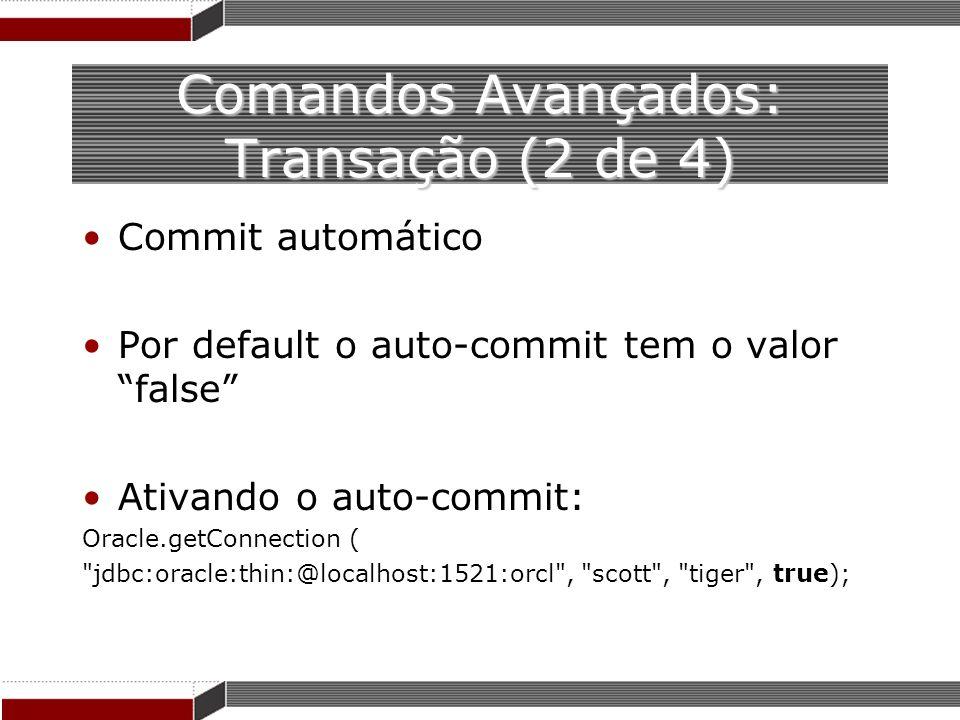 Comandos Avançados: Transação (2 de 4)