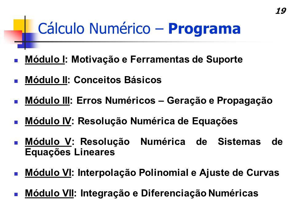 Cálculo Numérico – Programa