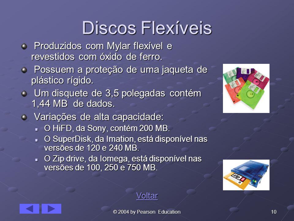 Discos FlexíveisProduzidos com Mylar flexível e revestidos com óxido de ferro. Possuem a proteção de uma jaqueta de plástico rígido.