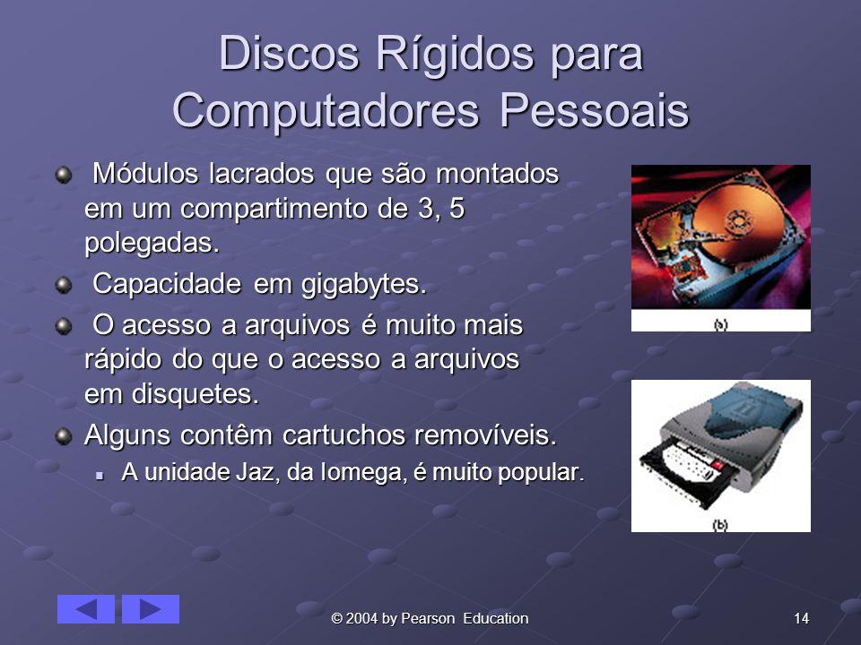 Discos Rígidos para Computadores Pessoais