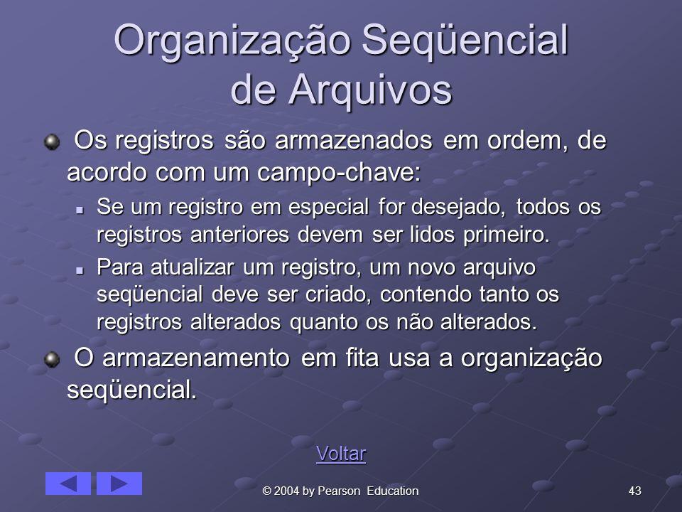Organização Seqüencial de Arquivos