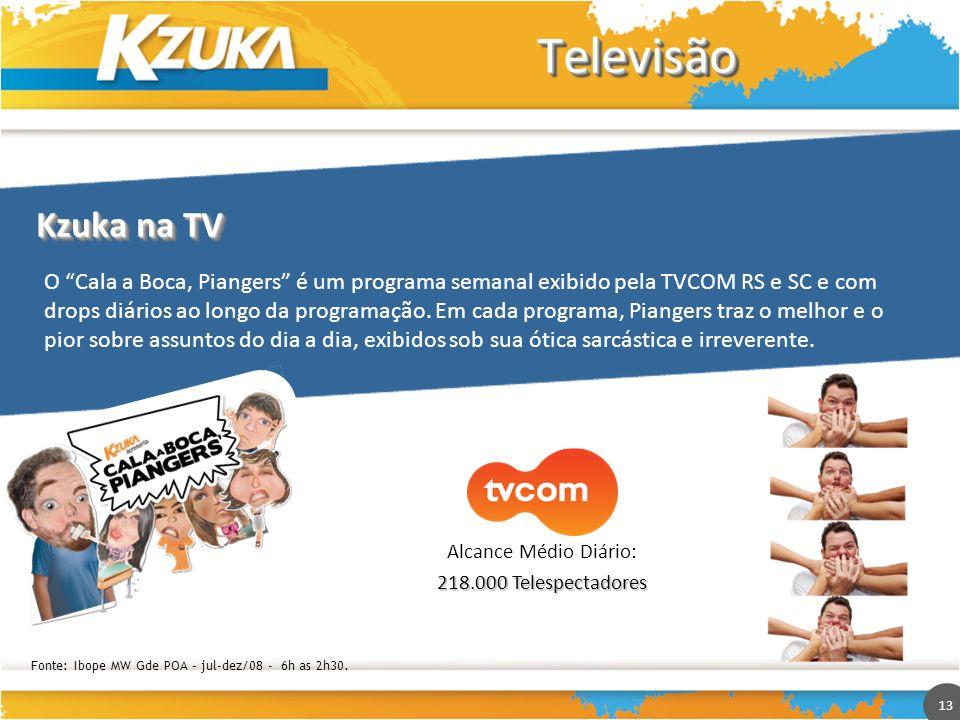 TelevisãoKzuka na TV.
