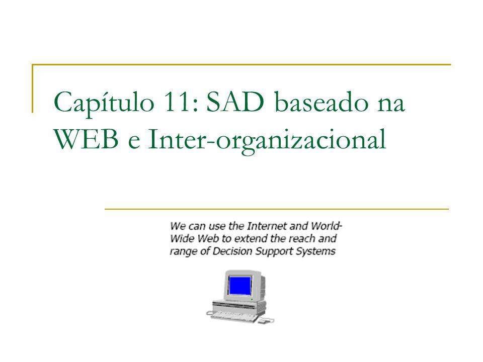 Capítulo 11: SAD baseado na WEB e Inter-organizacional