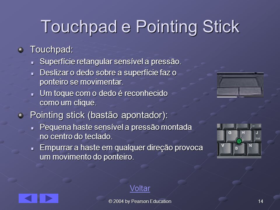 Touchpad e Pointing Stick