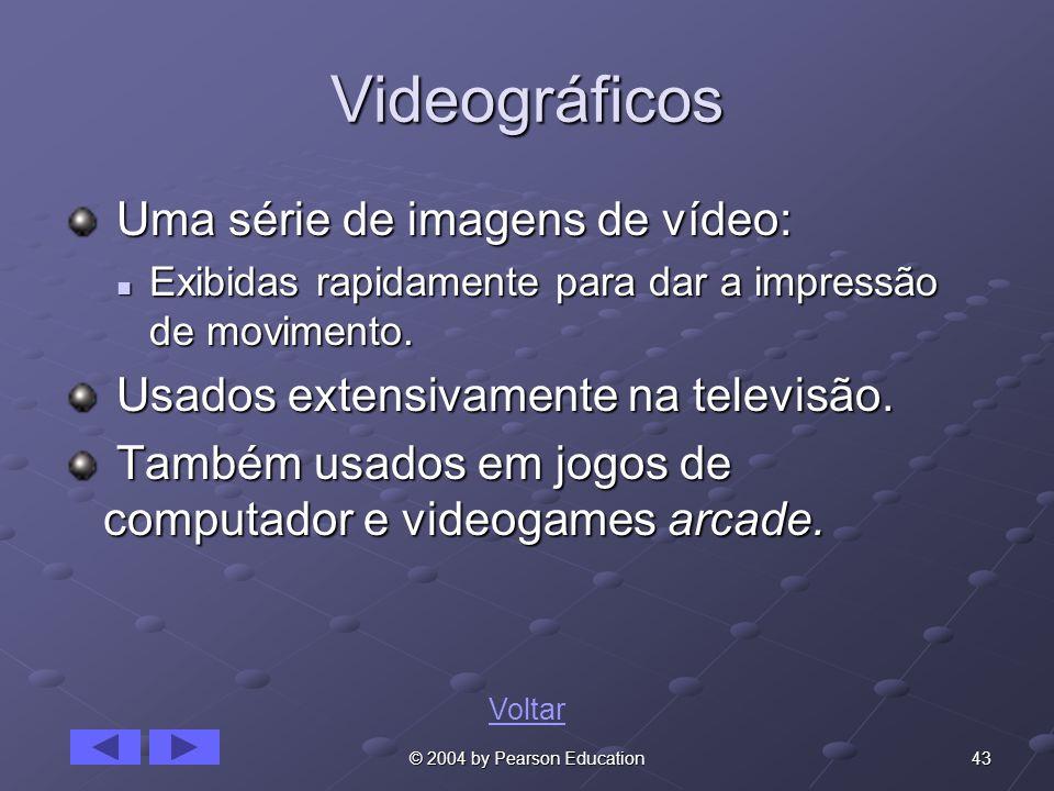 Videográficos Uma série de imagens de vídeo: