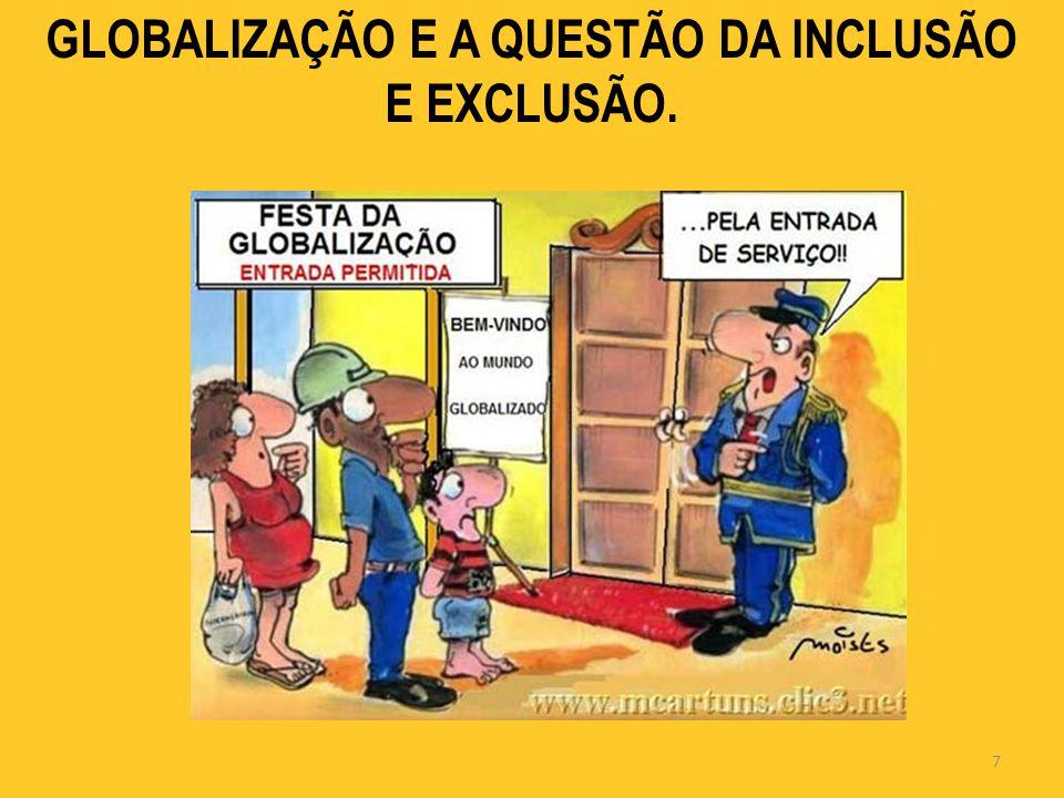 GLOBALIZAÇÃO E A QUESTÃO DA INCLUSÃO E EXCLUSÃO.