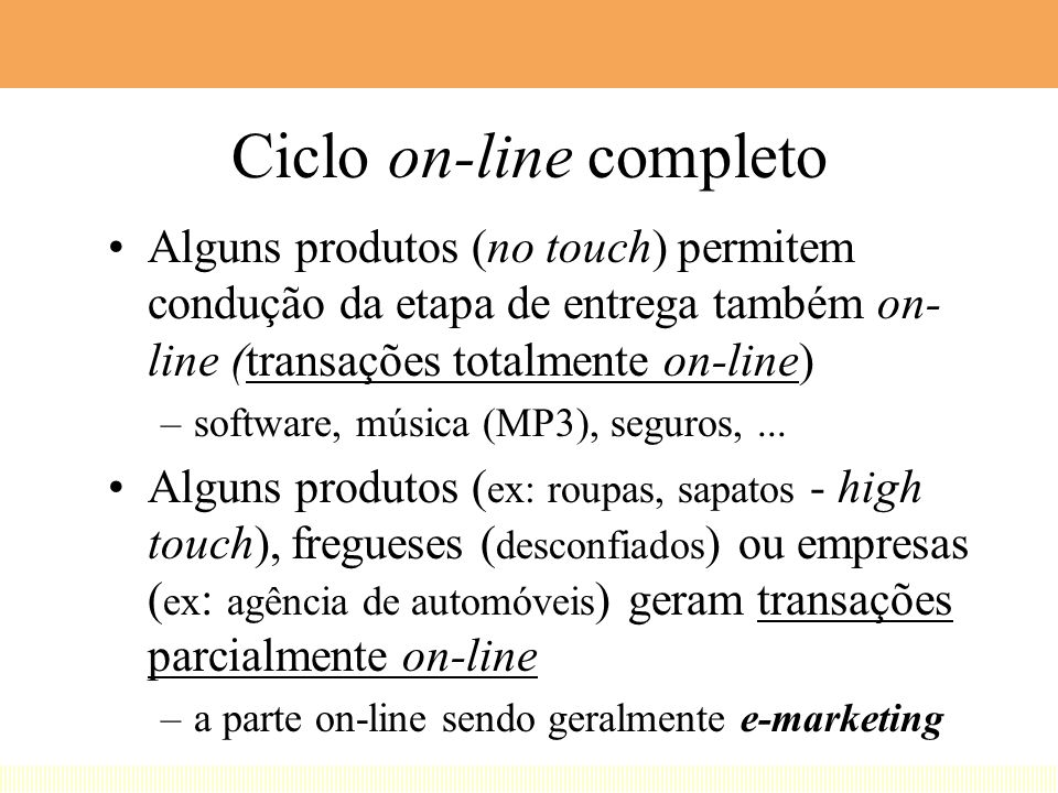 Ciclo on-line completo