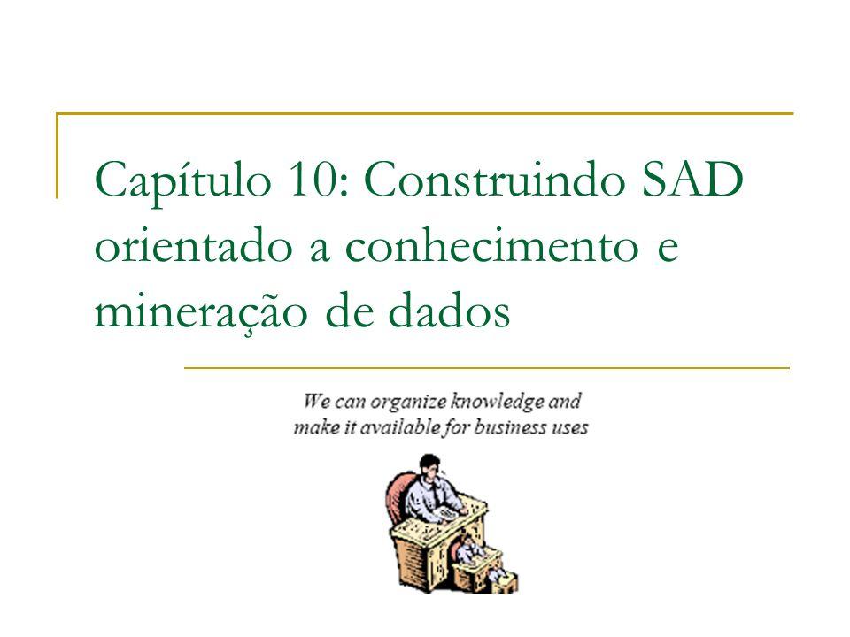 Capítulo 10: Construindo SAD orientado a conhecimento e mineração de dados