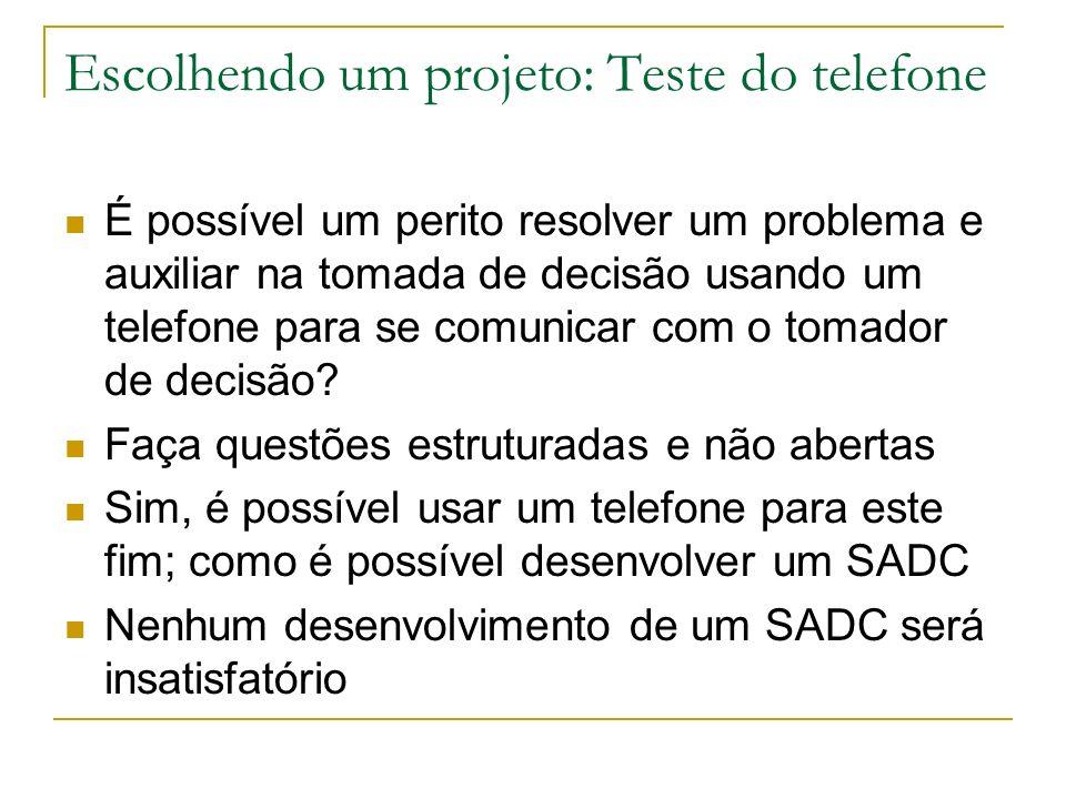 Escolhendo um projeto: Teste do telefone