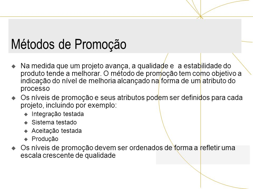 Métodos de Promoção