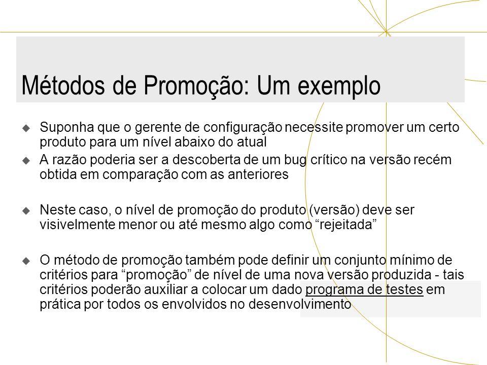 Métodos de Promoção: Um exemplo