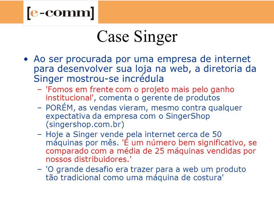 Case Singer Ao ser procurada por uma empresa de internet para desenvolver sua loja na web, a diretoria da Singer mostrou-se incrédula.