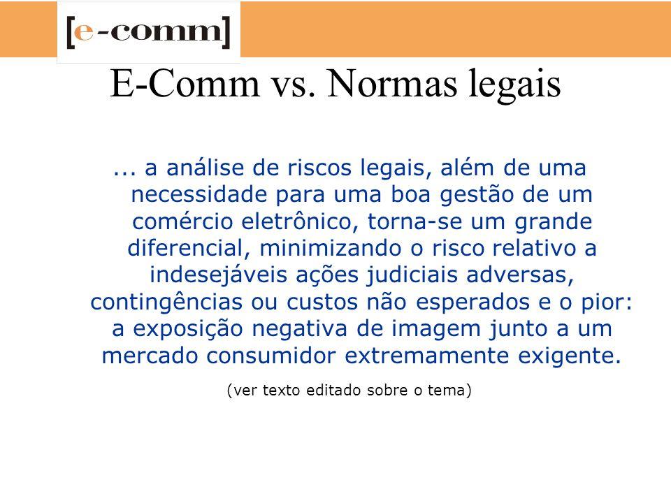 E-Comm vs. Normas legais