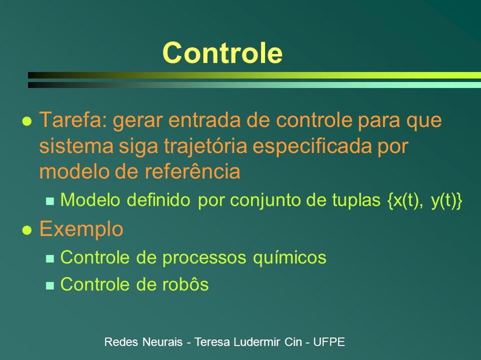 Controle Tarefa: gerar entrada de controle para que sistema siga trajetória especificada por modelo de referência.