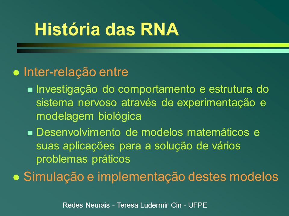 História das RNA Inter-relação entre