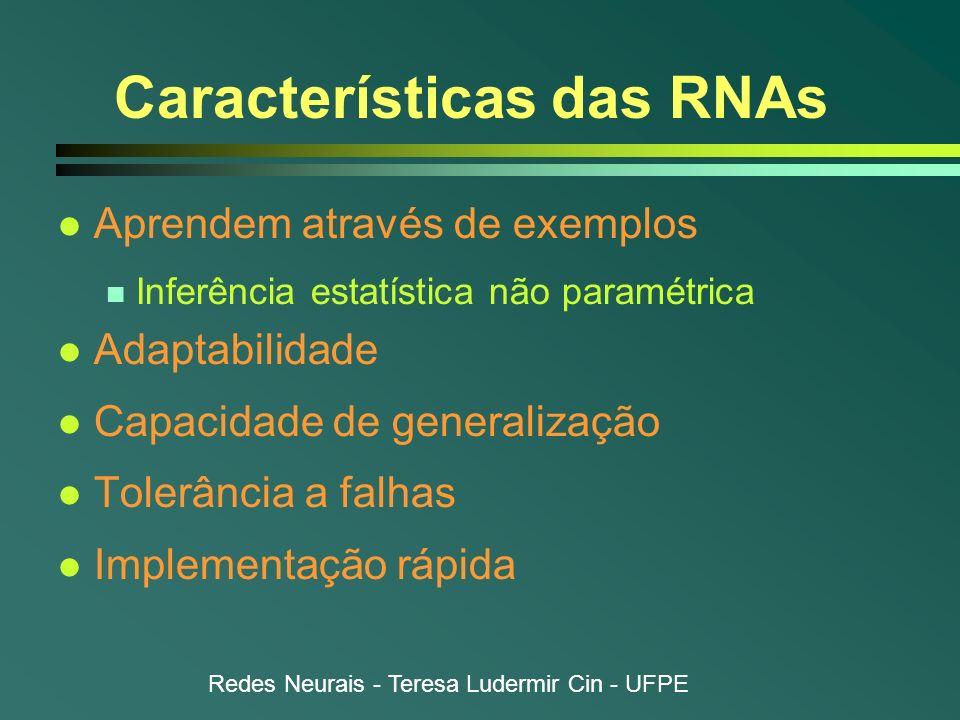 Características das RNAs