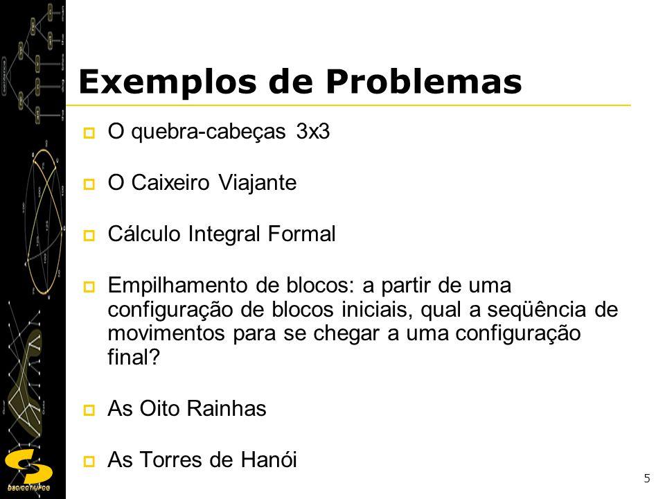 Exemplos de Problemas O quebra-cabeças 3x3 O Caixeiro Viajante
