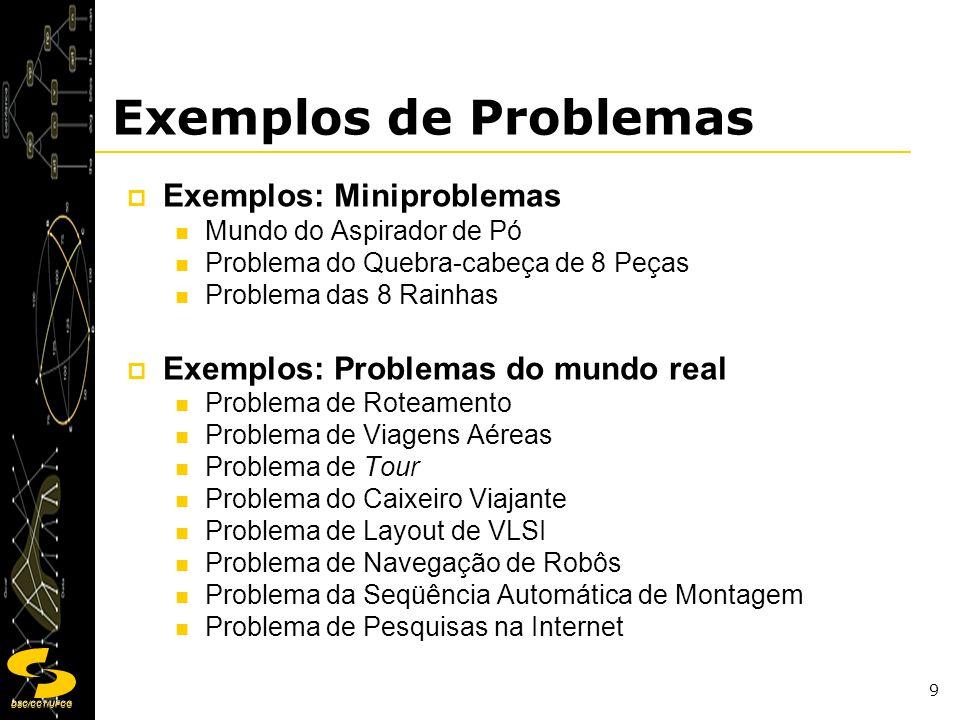 Exemplos de Problemas Exemplos: Miniproblemas