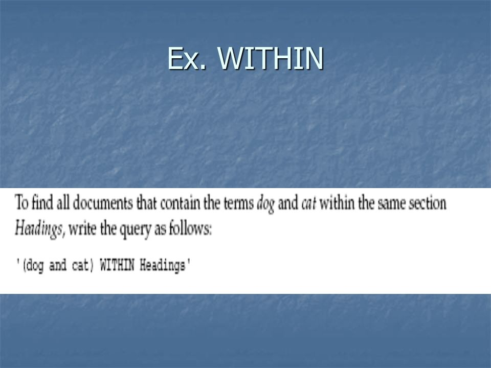 Ex. WITHIN