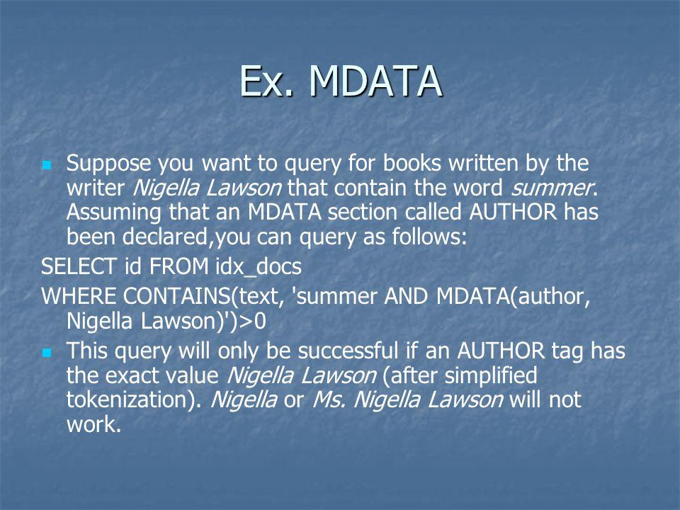 Ex. MDATA
