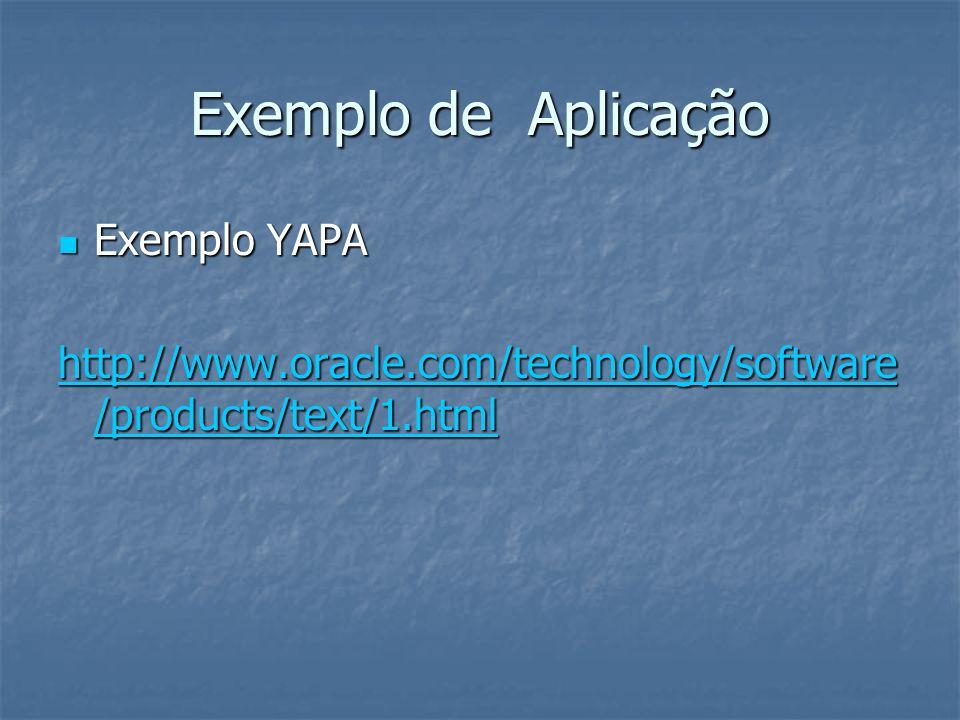 Exemplo de Aplicação Exemplo YAPA