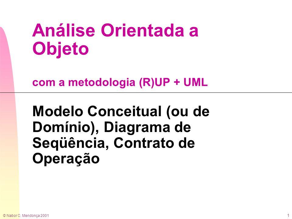 Análise Orientada a Objeto com a metodologia (R)UP + UML