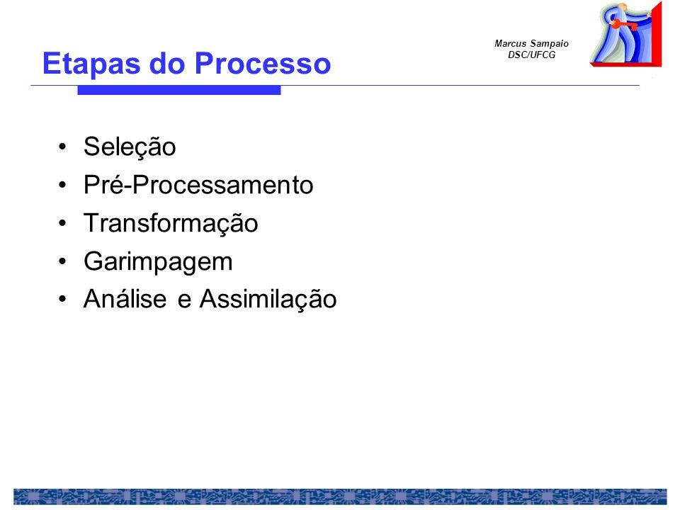Etapas do Processo Seleção Pré-Processamento Transformação Garimpagem