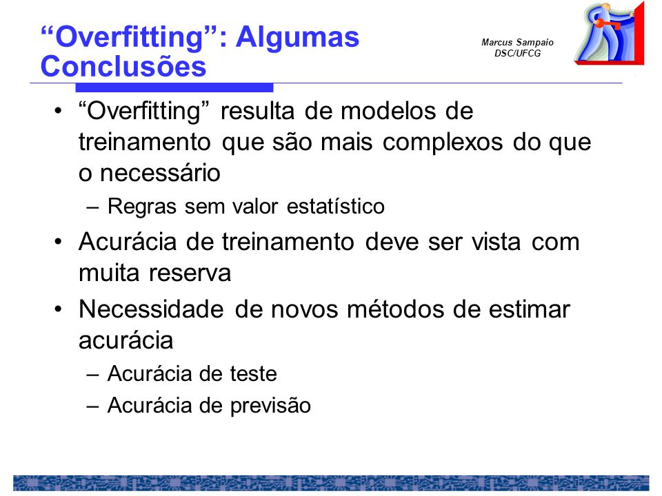 Overfitting : Algumas Conclusões
