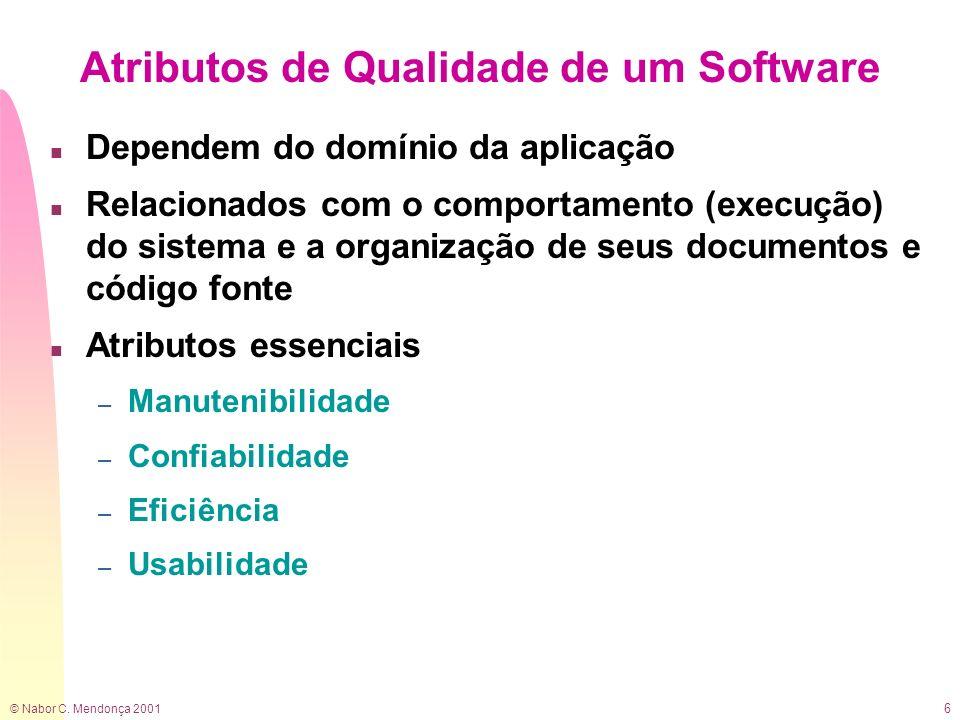 Atributos de Qualidade de um Software