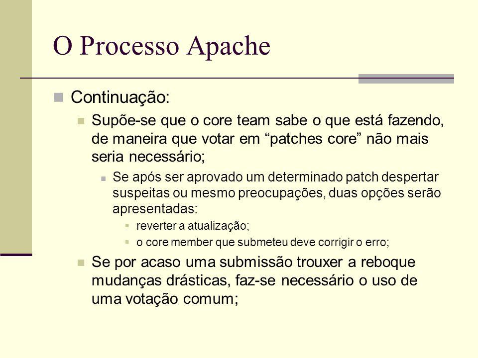 O Processo Apache Continuação: