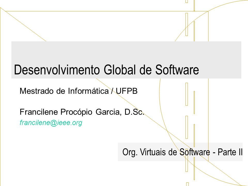 Desenvolvimento Global de Software