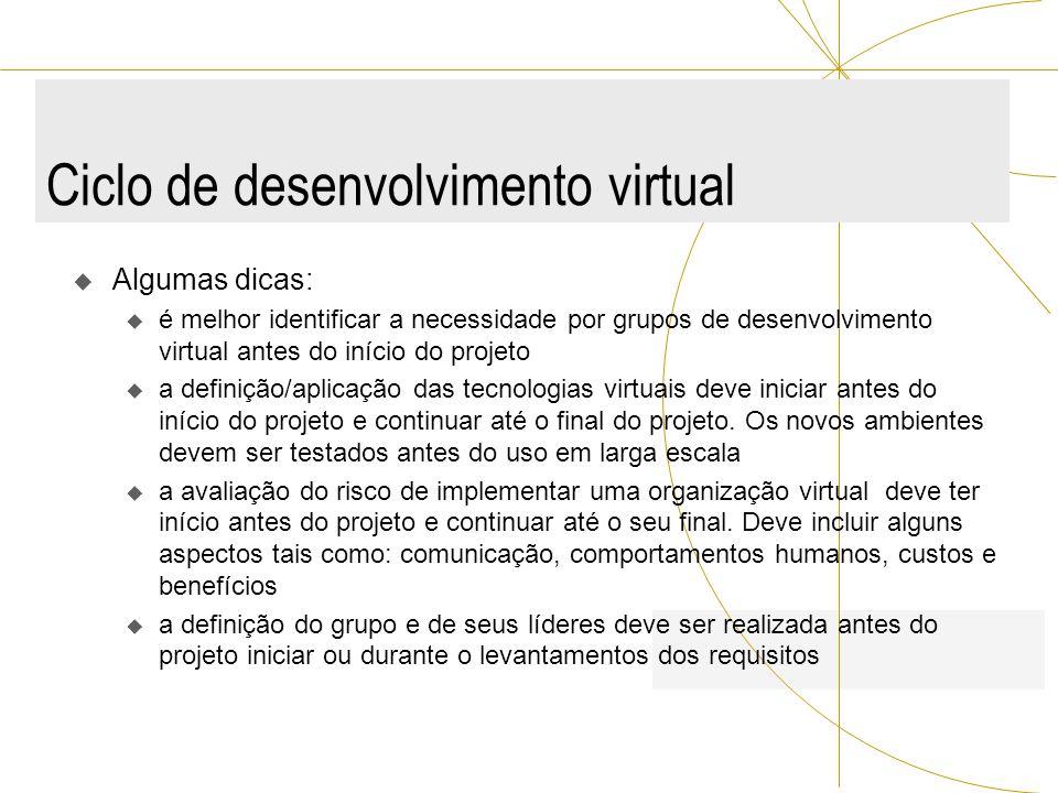 Ciclo de desenvolvimento virtual