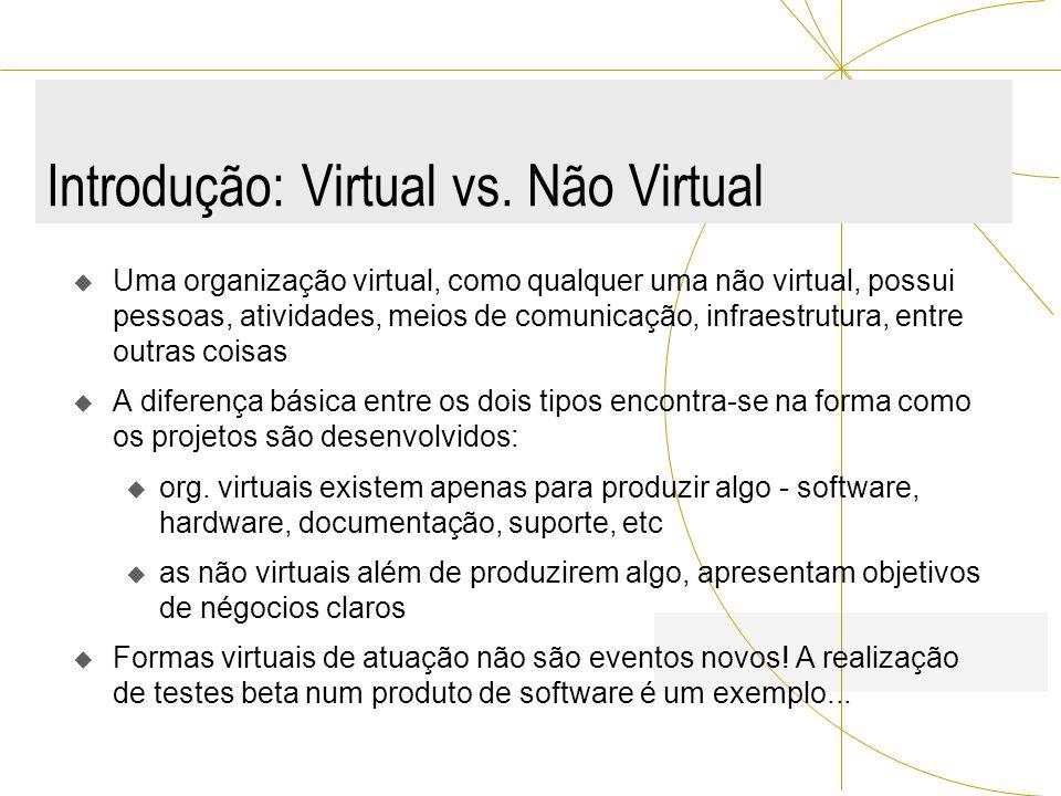 Introdução: Virtual vs. Não Virtual