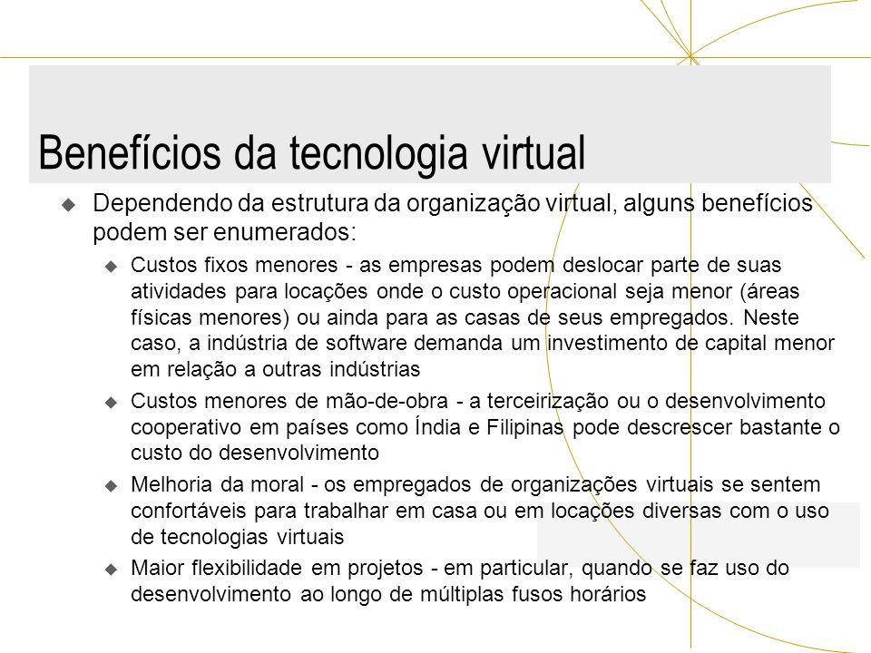 Benefícios da tecnologia virtual