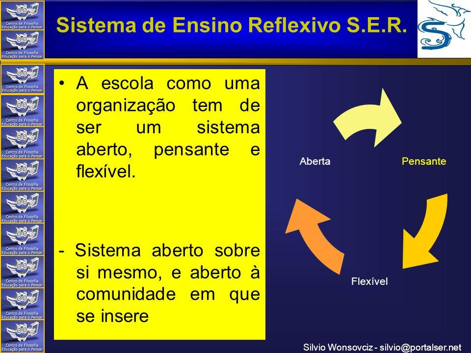A escola como uma organização tem de ser um sistema aberto, pensante e flexível.
