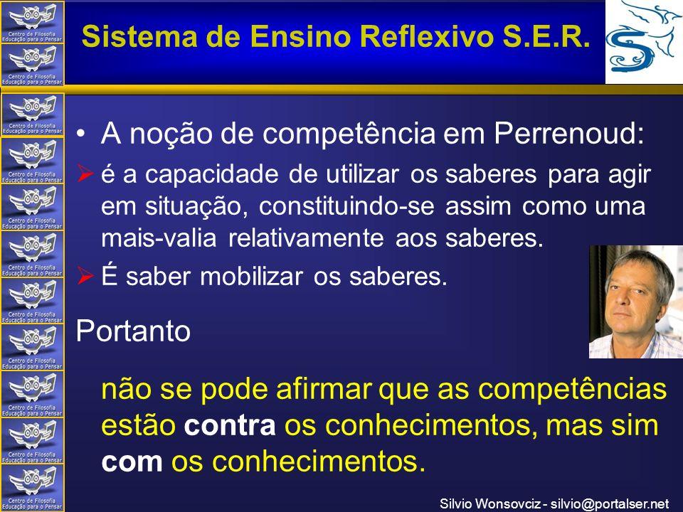 A noção de competência em Perrenoud: