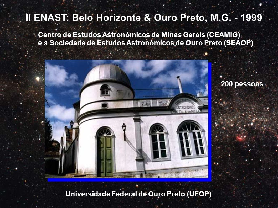II ENAST: Belo Horizonte & Ouro Preto, M.G. - 1999