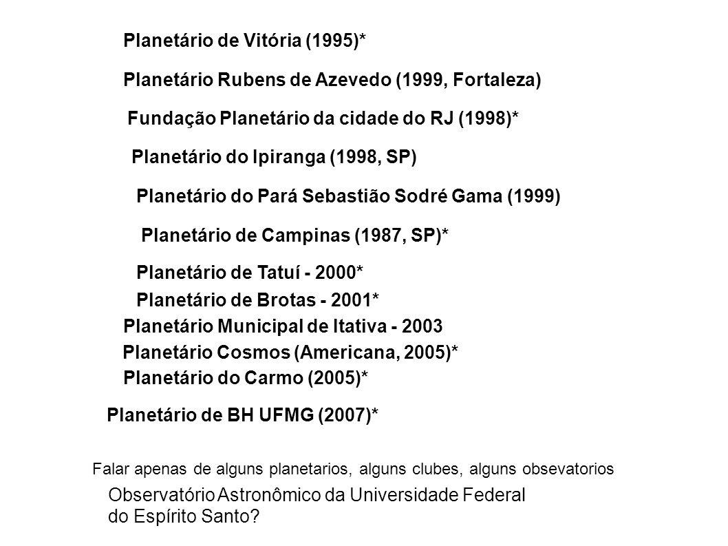 Planetário de Vitória (1995)*