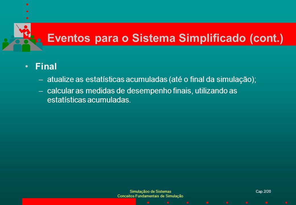 Eventos para o Sistema Simplificado (cont.)