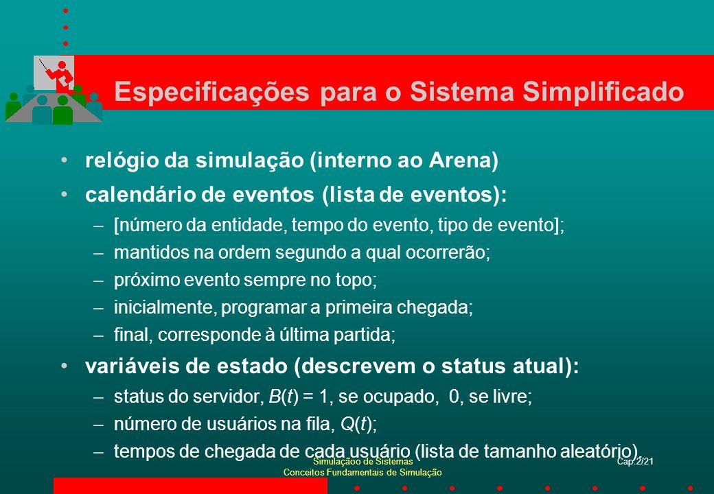 Especificações para o Sistema Simplificado
